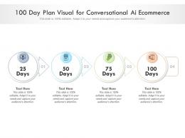 100 Day Plan Visual For Conversational Ai Ecommerce Infographic Template