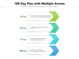100 Day Plan With Multiple Arrows