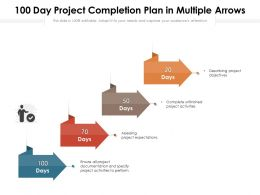 100 Day Project Completion Plan In Multiple Arrows
