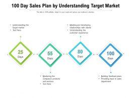 100 Day Sales Plan By Understanding Target Market