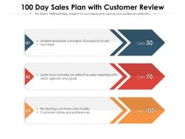100 Day Sales Plan With Customer Review