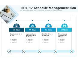 100 Days Schedule Management Plan