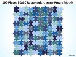 100 Pieces 10x10 Rectangular Jigsaw Puzzle Matrix Powerpoint templates 0812