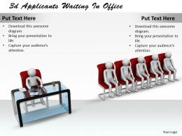 1013 3d Applicants Waiting In Office Ppt Graphics Icons Powerpoint