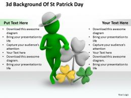1013 3d Background Of St Patrick Day Ppt Graphics Icons Powerpoint