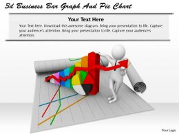 1013 3d Business Bar Graph And Pie Chart Ppt Graphics Icons Powerpoint
