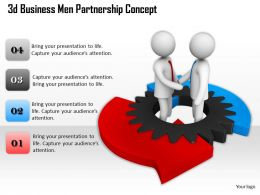1013 3d Business Men Partnership Concept Ppt Graphics Icons Powerpoint