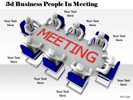 1013 3d Business People In Meeting Ppt Graphics Icons Powerpoint