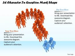1013 3d Character In Question Mark Shape Ppt Graphics Icons Powerpoint