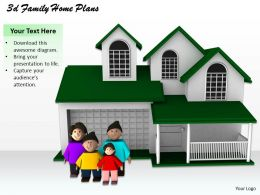 1013 3d Family Home Plans Ppt Graphics Icons Powerpoint
