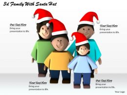 1013 3d Family With Santa Hat Ppt Graphics Icons Powerpoint