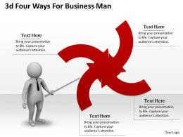 1013 3d Four Ways For Business Man Ppt Graphics Icons Powerpoint