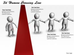 1013 3d Human Crossing Line Ppt Graphics Icons Powerpoint