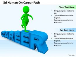 1013 3d Human On Career Path Ppt Graphics Icons Powerpoint