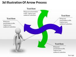 1013 3d Illustration Of Arrow Process Ppt Graphics Icons Powerpoint