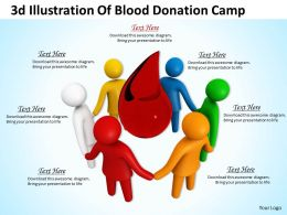 1013 3d Illustration Of Blood Donation Camp Ppt Graphics Icons Powerpoint