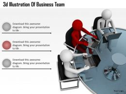 1013 3d Illustration Of Business Team Ppt Graphics Icons Powerpoint