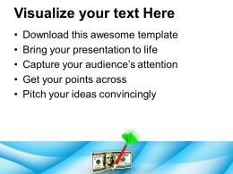 1013 3d Illustration Of Dart And Dollar PowerPoint Templates PPT Themes And Graphics