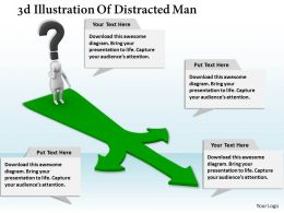 1013 3d Illustration Of Distracted Man Ppt Graphics Icons Powerpoint