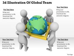 1013 3d Illustration Of Global Team Ppt Graphics Icons Powerpoint