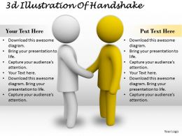 1013 3d Illustration Of Handshake Ppt Graphics Icons Powerpoint