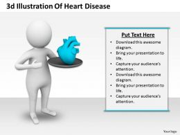 1013 3d Illustration Of Heart Disease Ppt Graphics Icons Powerpoint