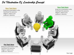 1013 3d Illustration Of Leadership Concept Ppt Graphics Icons Powerpoint