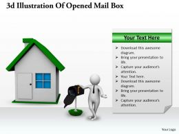 1013 3d Illustration Of Opened Mail Box Ppt Graphics Icons Powerpoint