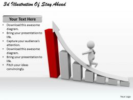 1013 3d Illustration Of Stay Ahead Ppt Graphics Icons Powerpoint