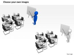 1013 3d Illustration Of Training Session Ppt Graphics Icons Powerpoint