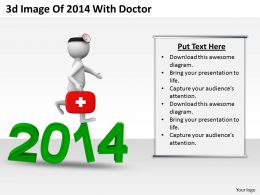 1013_3d_image_of_2014_with_doctor_ppt_graphics_icons_powerpoint_Slide01