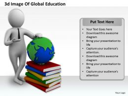 1013 3d Image Of Global Education Ppt Graphics Icons Powerpoint