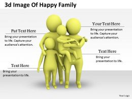 1013 3d Image Of Happy Family Ppt Graphics Icons Powerpoint
