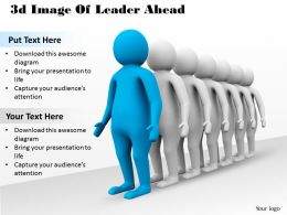 1013 3d Image Of Leader Ahead Ppt Graphics Icons Powerpoint