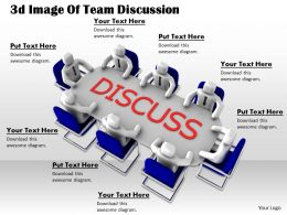 1013 3d Image Of Team Discussion Ppt Graphics Icons Powerpoint