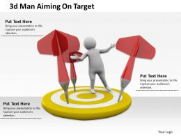 1013 3d Man Aiming On Target Ppt Graphics Icons Powerpoint