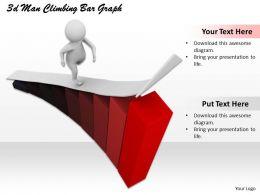 1013_3d_man_climbing_bar_graph_ppt_graphics_icons_powerpoint_Slide01