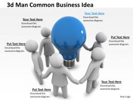 1013 3d Man Common Business Idea Ppt Graphics Icons Powerpoint