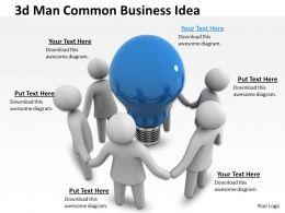 1013_3d_man_common_business_idea_ppt_graphics_icons_powerpoint_Slide01