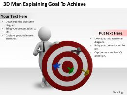 1013 3D Man Explaining Goal To Achieve Ppt Graphics Icons Powerpoint