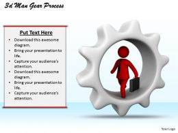1013 3d Man Gear Process Ppt Graphics Icons Powerpoint