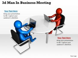 1013 3d Man In Business Meeting Ppt Graphics Icons Powerpoint