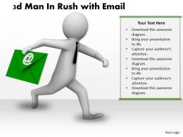 1013 3d Man In Rush with Email Ppt Graphics Icons Powerpoint