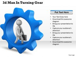 1013 3d Man In Turning Gear Ppt Graphics Icons Powerpoint