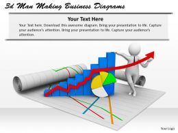 1013 3d Man Making Business Diagrams Ppt Graphics Icons Powerpoint