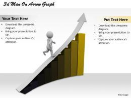 1013 3d Man On Arrow Graph Ppt Graphics Icons Powerpoint