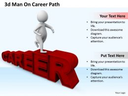 1013 3d Man On Career Path Ppt Graphics Icons Powerpoint