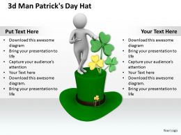 1013 3d Man Patricks Day Hat Ppt Graphics Icons Powerpoint