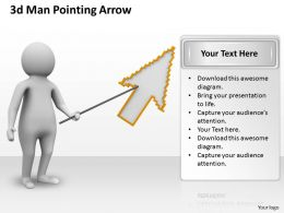 1013 3d Man Pointing Arrow Ppt Graphics Icons Powerpoint
