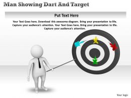 1013 3d Man Pointing On Targets Ppt Graphics Icons Powerpoint